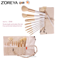 Face Use and Wood Handle Material White Makeup Brush