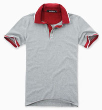 Mens plain red collar polo t shirt /Short sleeve slim fit polo shirt for men /white cotton sport polo t shirt