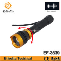 Multifunctional rechargeable LED flashlight, U026 high power zoom focus cree led flashlight