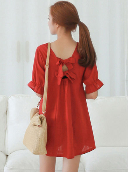 Wholesale Women Summer Casual Clothing Plus Size Sweatheart Candy Red Color Dress