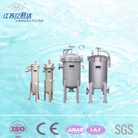 High volume bag filter pollutants collector for industrial waste water treatment
