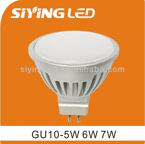 Aluminum 220v 7w MR16 gu10 led spotlight 120 beam angle