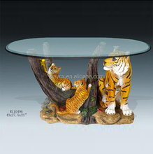 Home living room usage resin animal coffee table for sale