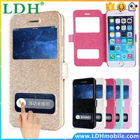 SE Case Cover Dual View Window Leather Wallet Stand Flip Cover For iphone 4 4s 5 5s se 6 6s plus Case