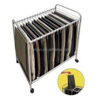 Rollin Pants Trolley/18 Pants closet Rolling Trolley Hanger Slacks Organizer Rack with Hangers