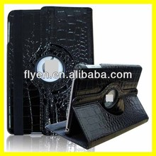Crocodile Pattern Leather Case For iPad Mini 7.9'' Smart Cover with 360 Degree Swivel Stand Black