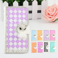 Elegant wallet style bling bling leather crystal diamond case for Alcatel one touch pop 3 (5) 2016