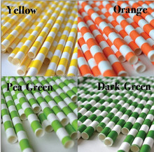 Party Supply Sailor Striped Paper Straws For Christmas Party