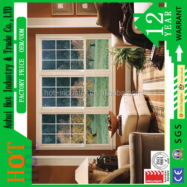 2016 high quality pvc fixed screen latest house french window grill design Prefabricated house pvc windows and door