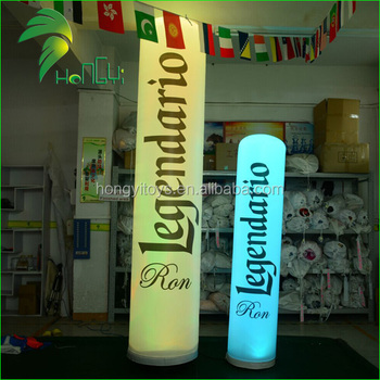 Portable LED Light Tower For Advertising , Inflatable Lamp Post For Decoration