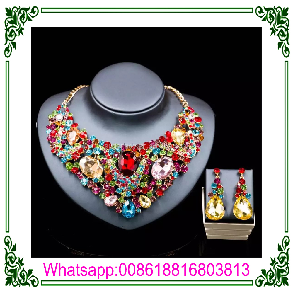 High quality Gold Plated bridal Jewelry Sets Rhinestone Jewelry Sets