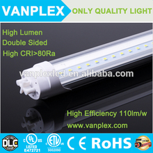 110lm/w SMD2835 double sided T8 Led Tube light with 5 years warranty