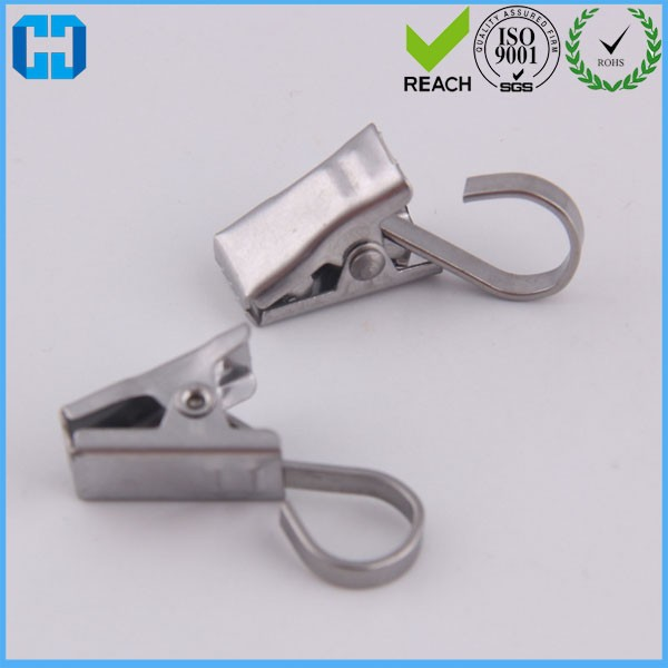 Heavy Duty Stainless Steel Hanger Clips With Hooks For Curtain