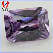Baguette cut Synthetic Lavander Loose CZ Stones