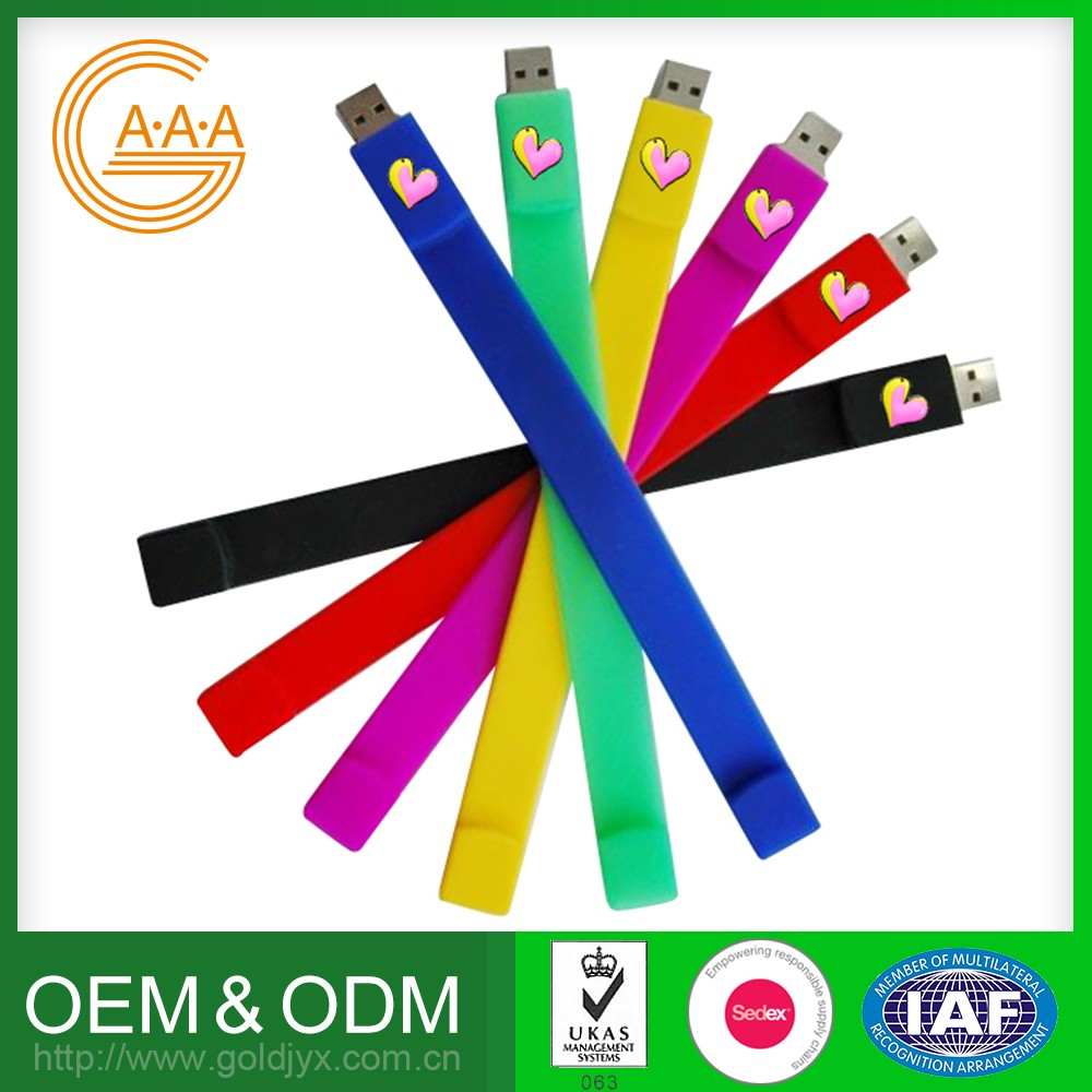 Top Sales Customized Logo And Color Silicone Bracelet Unique Design Silicone Bracelet Wrist Band Usb