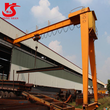 Workshop single girder semi gantry crane10t