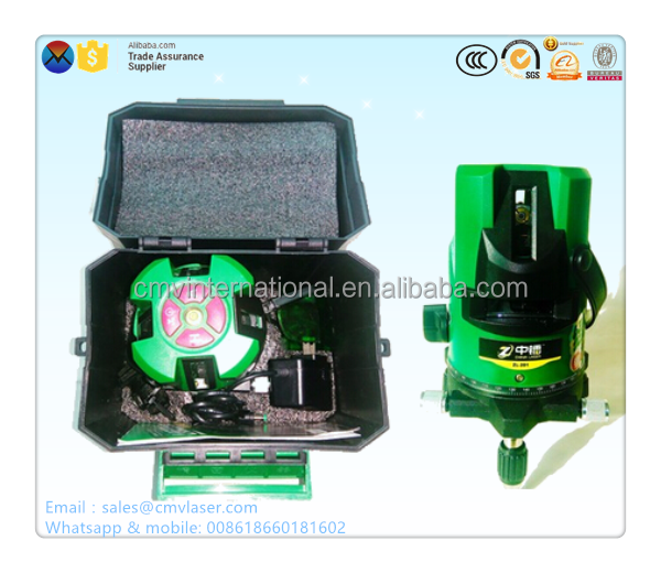 532nm Green 5 lines 360 rotatable laser level
