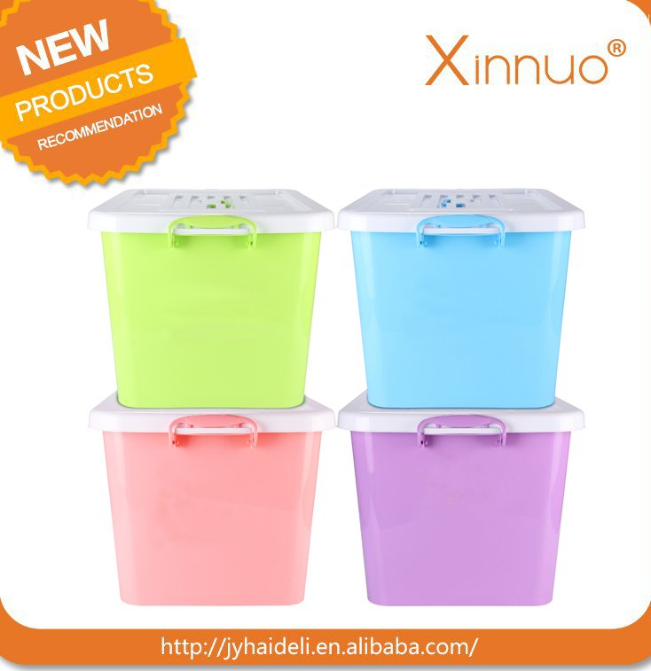 Large capacity colorful storage box plastic container for store clothes & toys