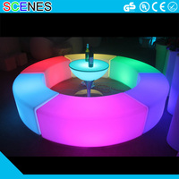 light up RGB led bar table and stool