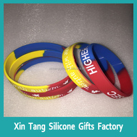 Alibaba website clear logo Silicone/Rubber Wristbands Bracelet with custom design