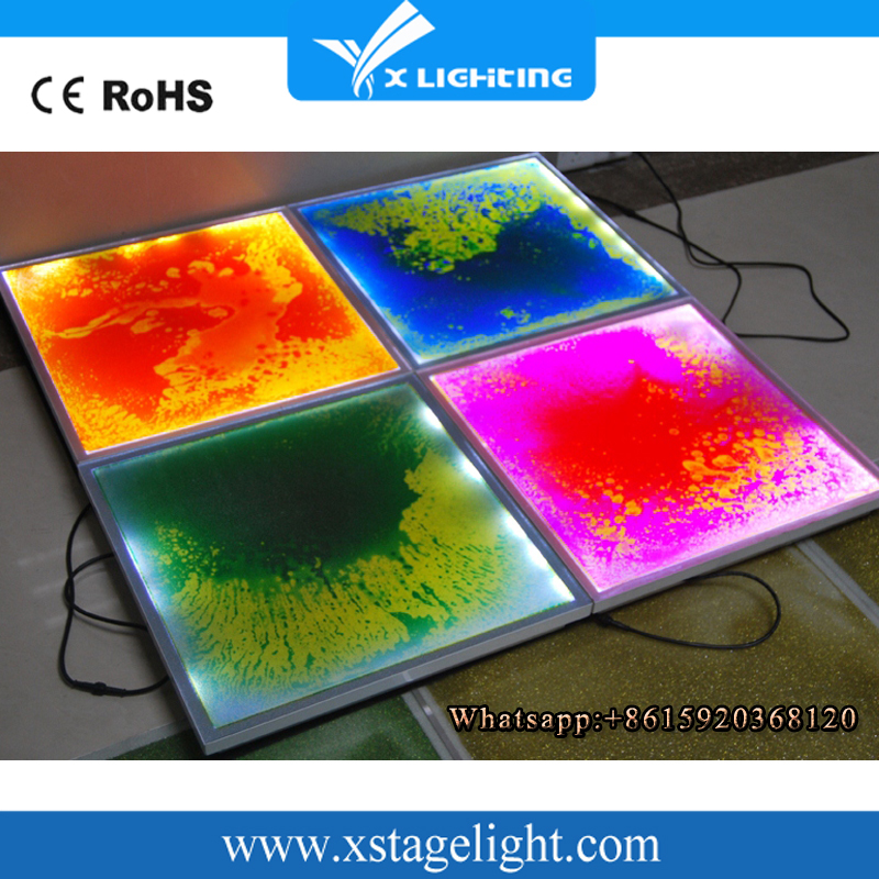 2016 Guangzhou Supllier Cheap Liquid Interactive LED Rechargeable Video Dance Floor