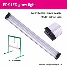 EDK 48W 6400k daylight LED lamp strip full spectrum grow light with hydroponic growing systems
