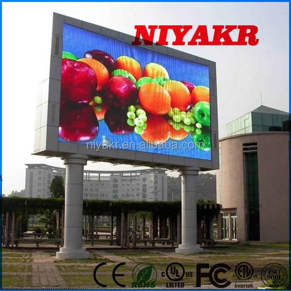 Niyakr Large Led Screen Outdoor Full Color/P10Mm Street Advertising Big Led Tv/China Led Screen Panel P10