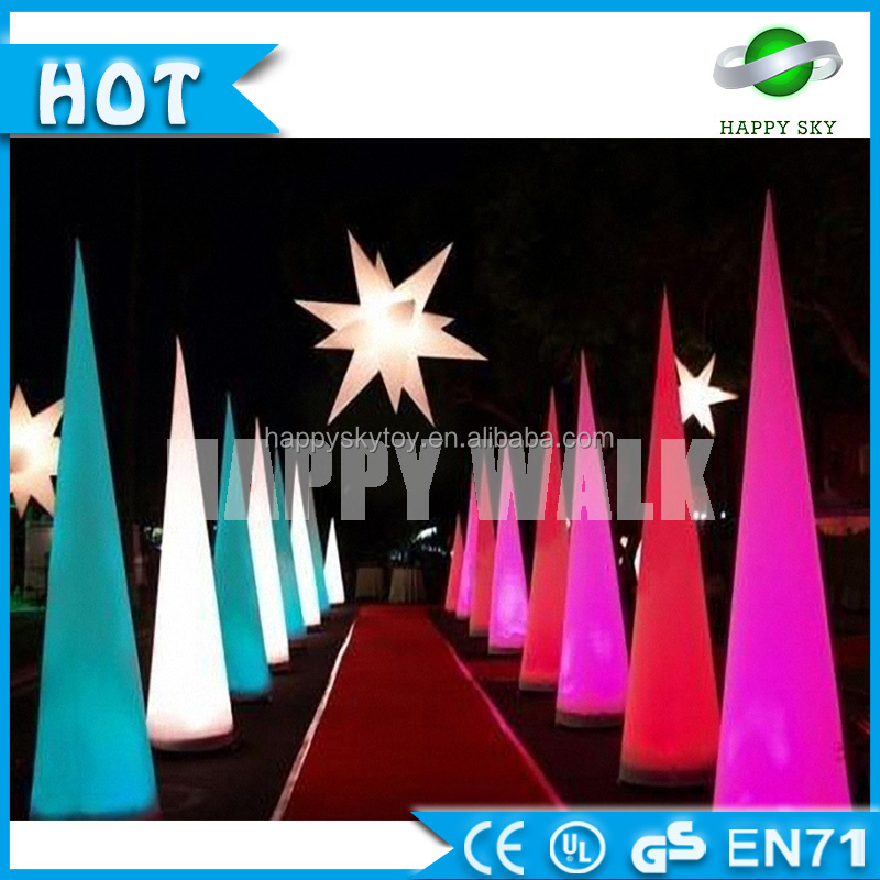 Factory price!!Inflatable led lighting cone,inflatable lighting column,inflatable colorful led pillar