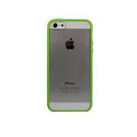 2014 new solid color soft TPU + clear hard PC case for iphone 5s