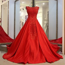 LS91240 Red A Word Brought Stretch Wrapped Sexy Hijab backless lace evening Women Party Wear Western Dress