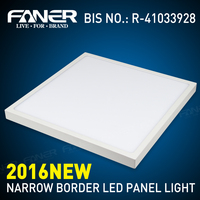 narrow border square BIG surface led panel light bis cetification