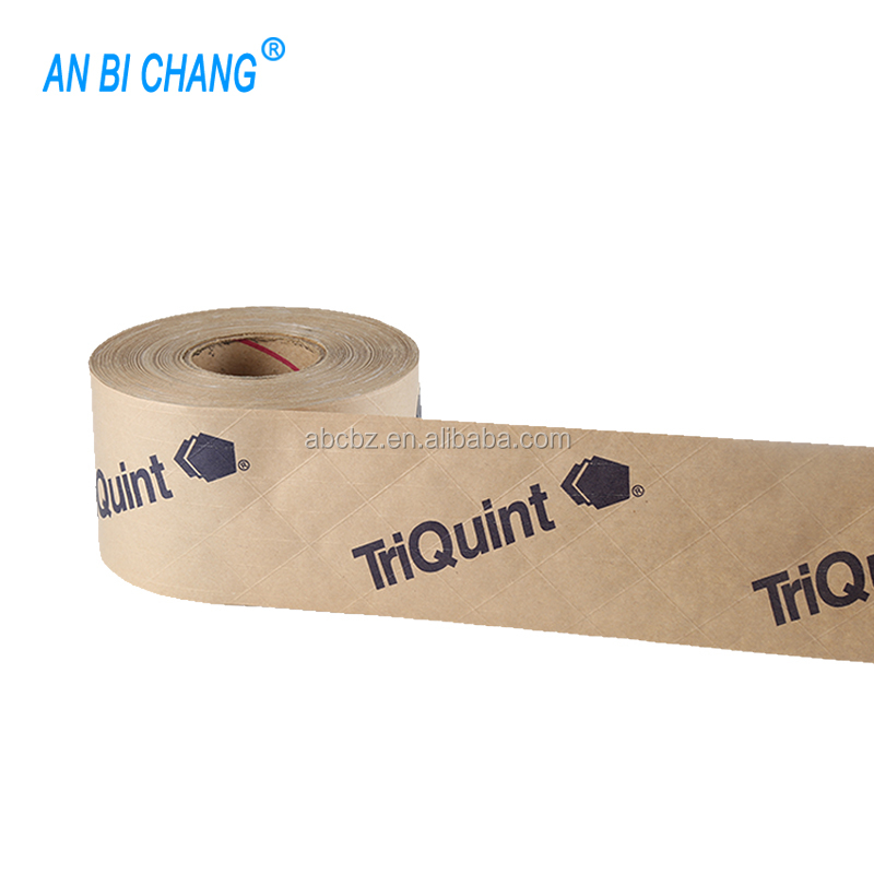 Fiber Reinforced Custom Printed Gummed Kraft Paper Packing Tape 3 Inches x 375 Feet