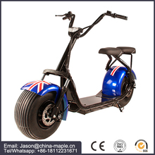 2017 new 2000w 60V 12ah 2 wheel electric bike/scooter/motorcycle citycoco with rear light and mirro