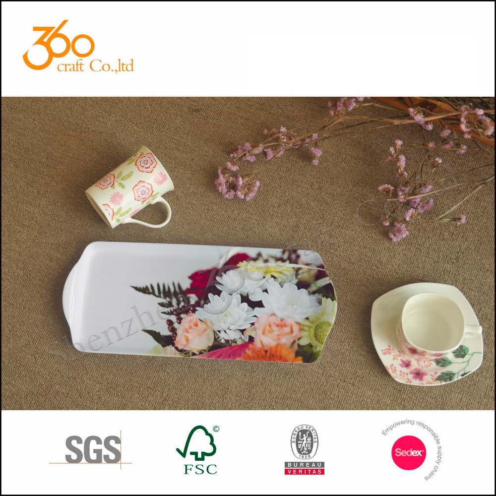 Reasonable price customer design Eco-friendly melamine plate/dish/tray