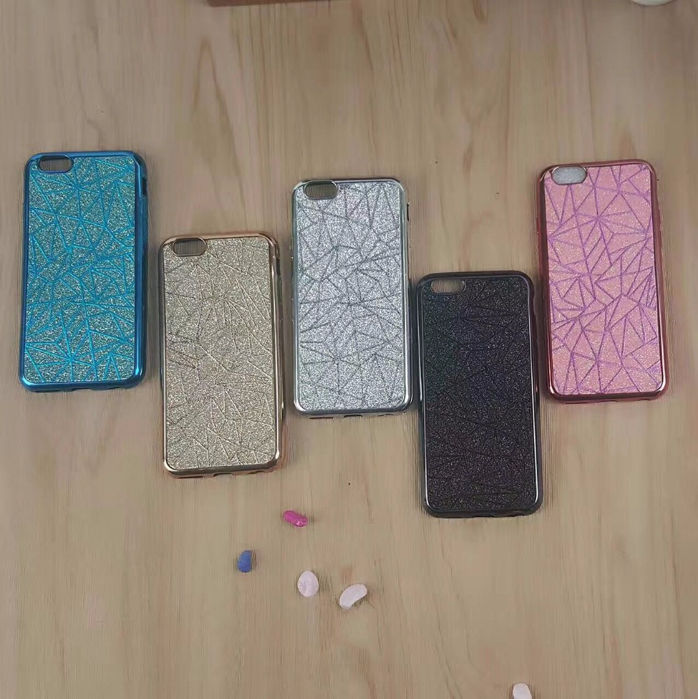 2017 Wholesale price diamondsequins plating case covers for iphone 7