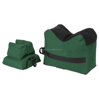 Outdoor Tack Driver Gun Accessories Unfilled Green Handmade Shooting Gun Rest Bag