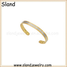 New arrival high fashion metal bangles silver/gold plating two colors Copper Bracelet with high powerful magnets 100% guaranteed