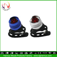 Professional designed mini led aluminum 3 modes battery powered mountain cycle caution warning flashing light