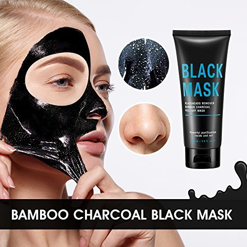 Private Label Blackhead Remover Black Peel off Bamboo Charcoal Cleaning Face Mask