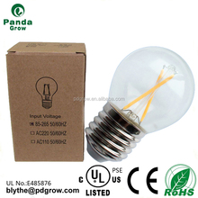 Silver half chrome coating G45 4W E26 e27 CE UL led filament bulb