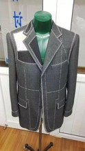 New style jeans pent men Green and white dress turkish mens suits