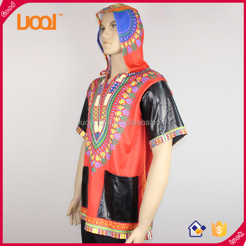 hot sale customized wholesale mens african print dashiki t shirts