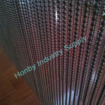 Haning Antiquate Copper Steel Beaded Curtain Divider