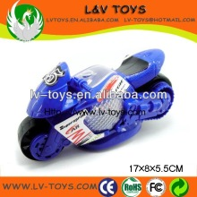 Fashion plastic candy dispenser pull line motorcycle with light for promotion gift