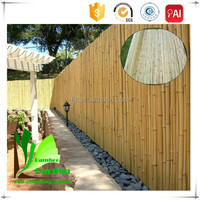 Pole Shape and Roll Part Cheap Natural Bamboo Fencing Roll