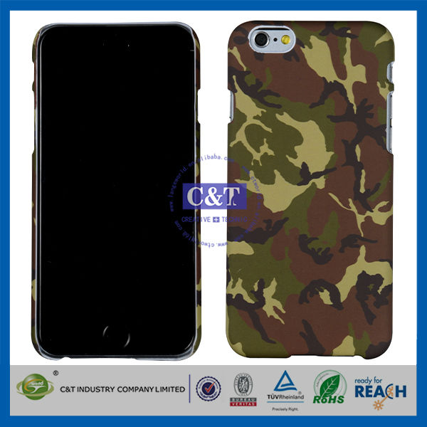 C&T 2014 newest camo Rubber Case for Apple iPhone 6