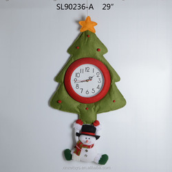 Hot sale christmas tree clock wall decoration