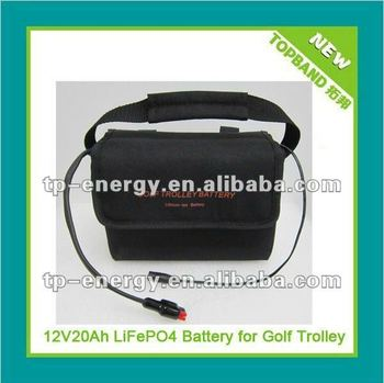 Professional design!!! batteries rechargeable 12.8V for golf trolley