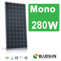 CE/TUV/UL Certificate solar power system home 24v mono 280watts solar panel price