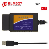 [100PC/ LOT] DHL Free Shipping elm327 usb standard obd ii obd2 scanner tools elm 327 usb v1.5 version with chip CP2101